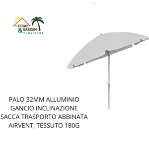 OMBRELLONE PALO ALLUMINIO 32 COLORE BLU